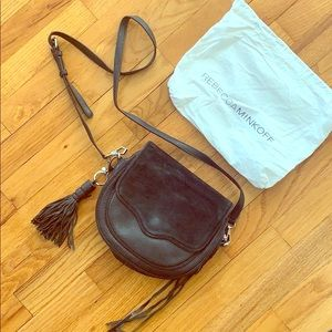 Rebecca Minkoff Black Leather and Suede Crossbody